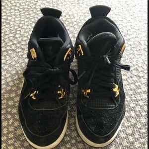 Nike Air Jordan Black Velvets - Size 5.5